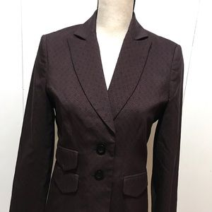 New Saks Fifth Avenue Purple/ Black Blazer 4